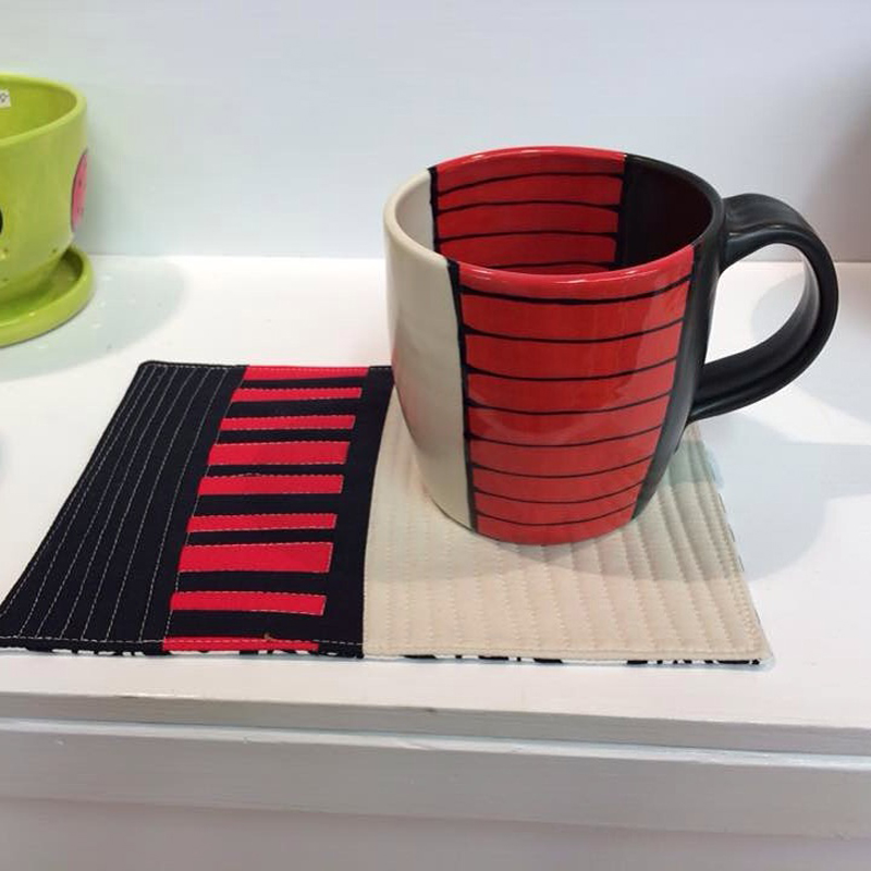 """""""mug rug"""" and mug"""