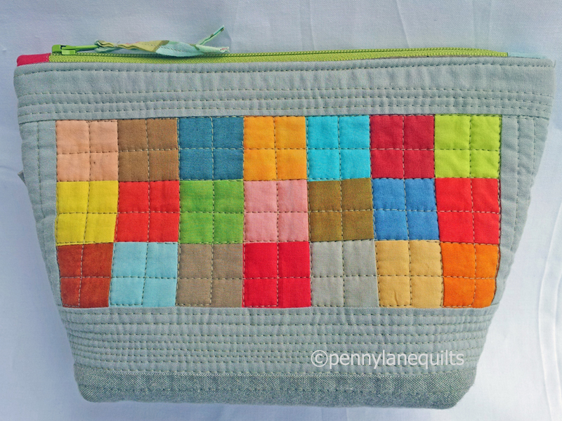 patchwork zippered pouch