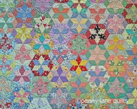 English paper pieced star quilt by Marla Varner, penny lane quilts