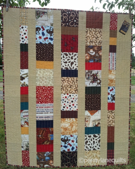western themed baby quilt