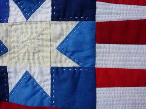 detail of hand quilting