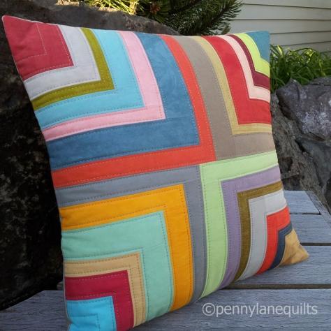 pillow, hand dyed fabrics, Marla Varner
