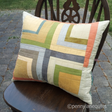 pillow made from hand dyed fabrics