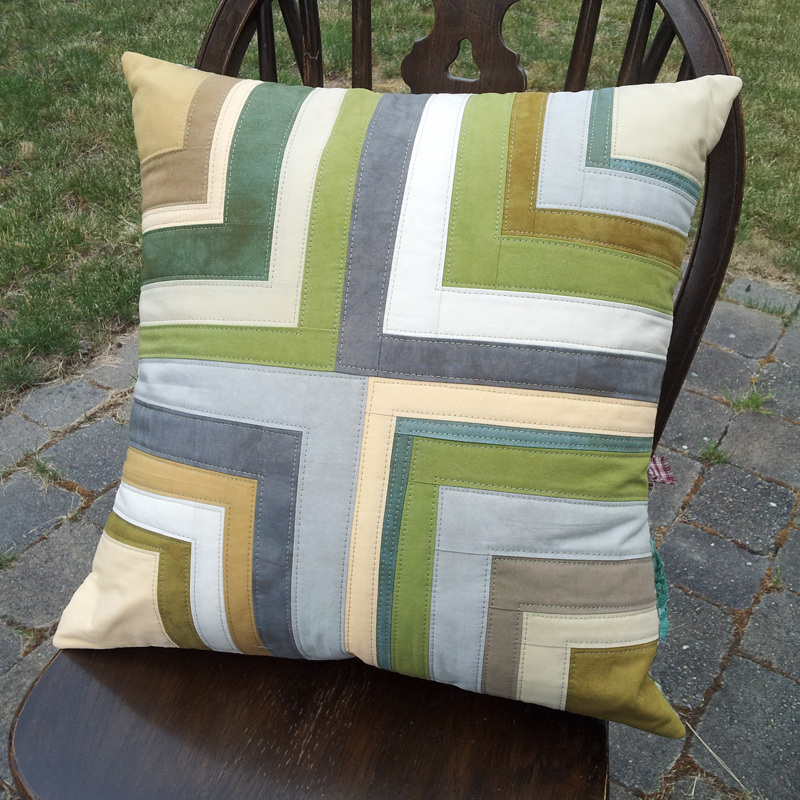 pillow, hand dyed fabrics, MarlaVarner