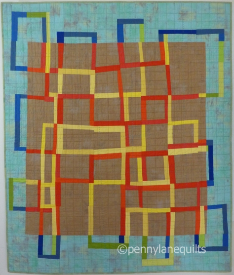 quilt made using alternate grid score by Marla Varner, pennylane quilts