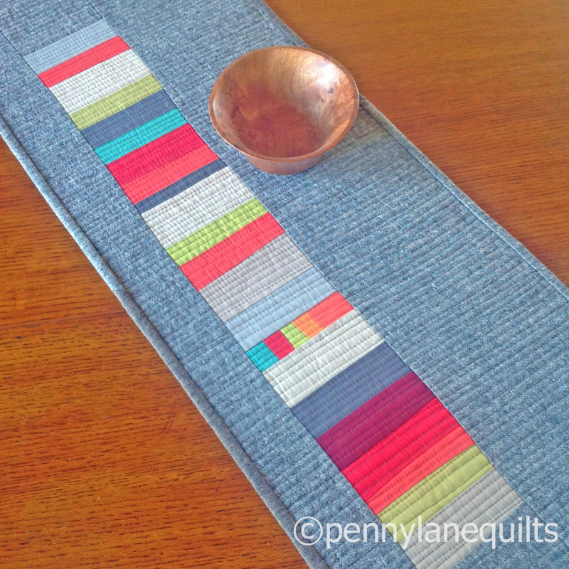 linen table runner by marla varner