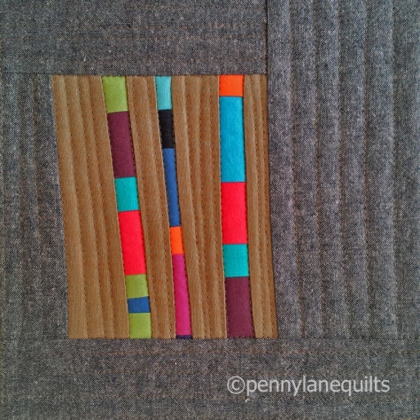 table mat with skinny stripes by marla varner