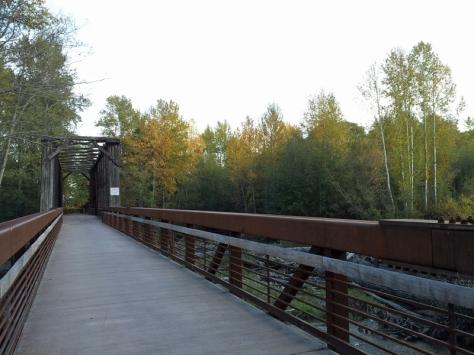 Railroad bridge trestle