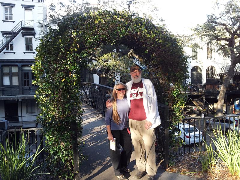 Bonnie and Hans in Savannah