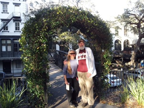 Bonnie and Hans in Savannah