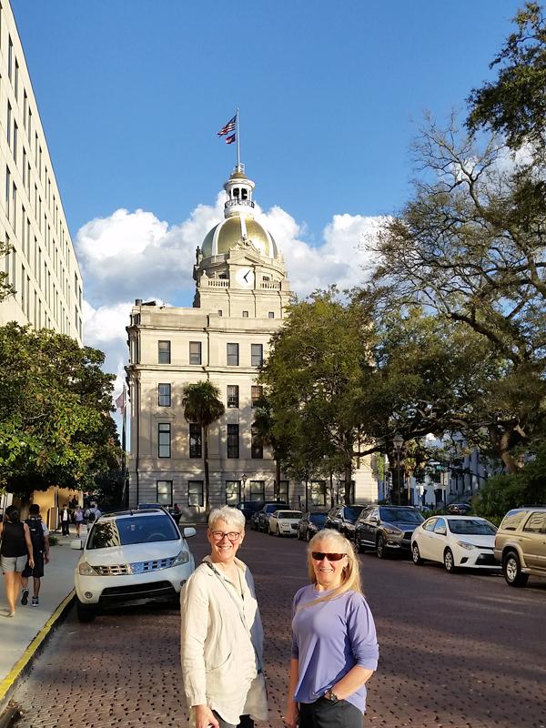 Bonnie and I downtown Savannah