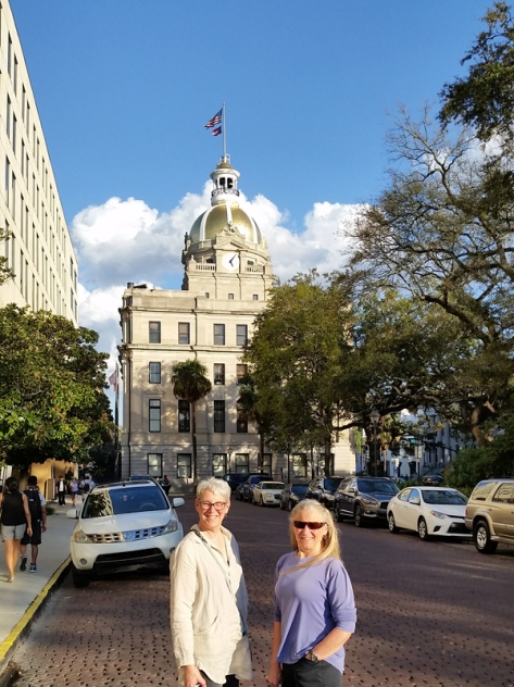 Bonnie and I downtown Savannah