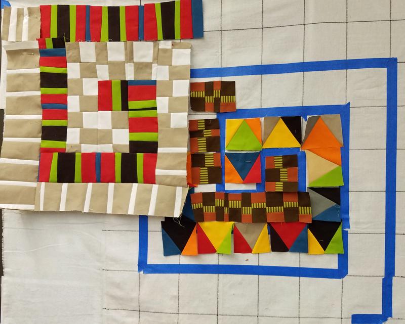 Marla Varner, penny lane quilts, Maria Shell workshop, work in progress