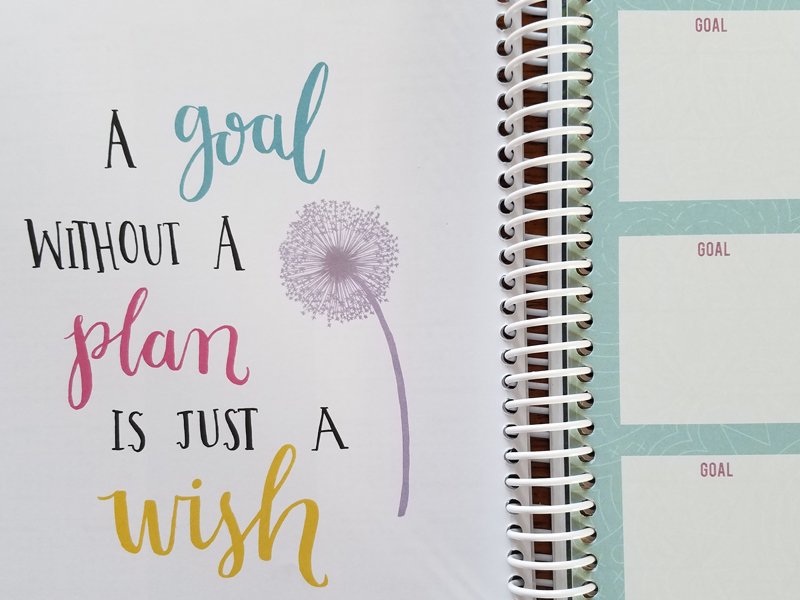 planner page from The Quilter's Planner 2018