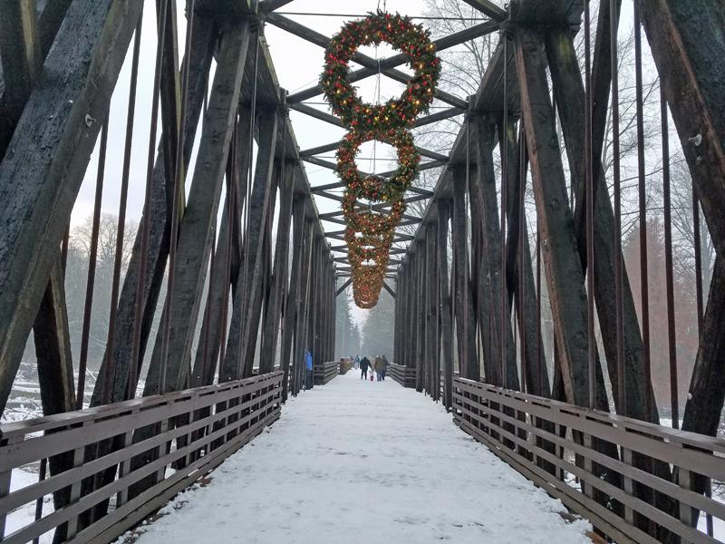 Christmas Day at Railroad Park, Sequim, Washington