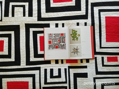 Modern Quilts book open to Trestle Nestle by Marla Varner