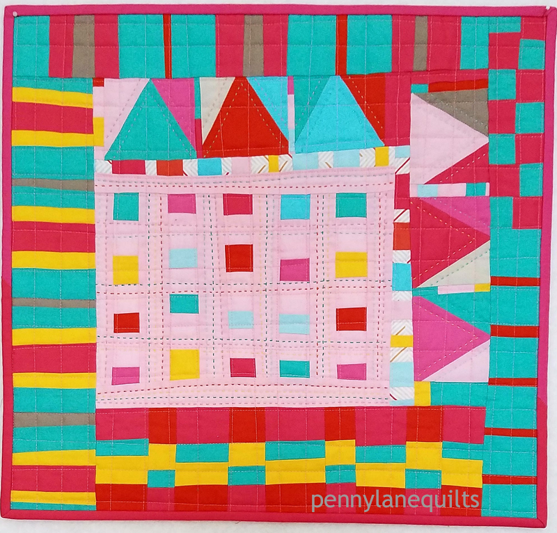 Confetti, mini quilt for MQG swap 2018 Marla Varner, penny lane quilts