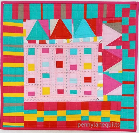 Confetti, mini quilt for MQG swap 2018 Marla Varner, penny lane quilts