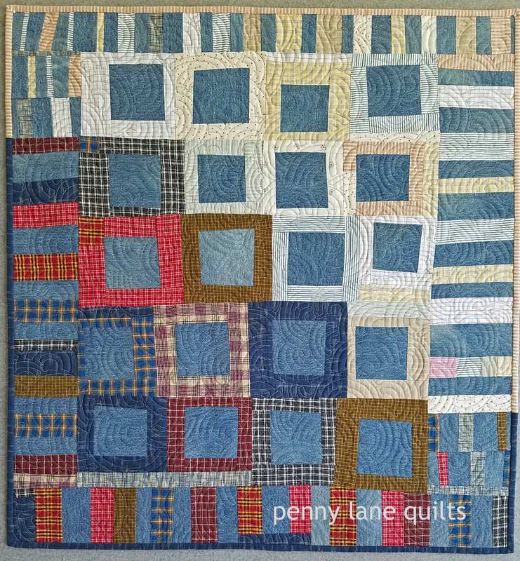 upcycled denim quilt