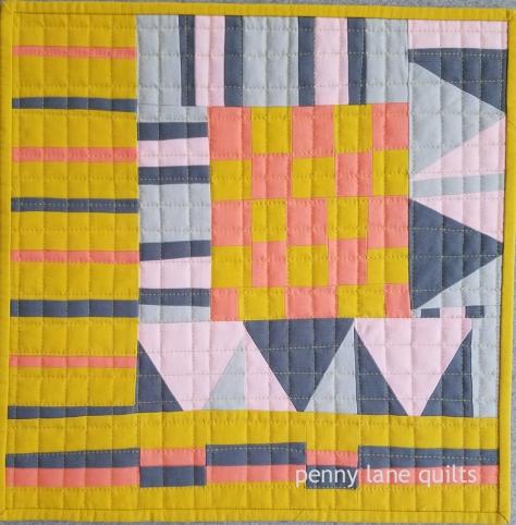 Summer Cabin, mini quilt, Marla Varner