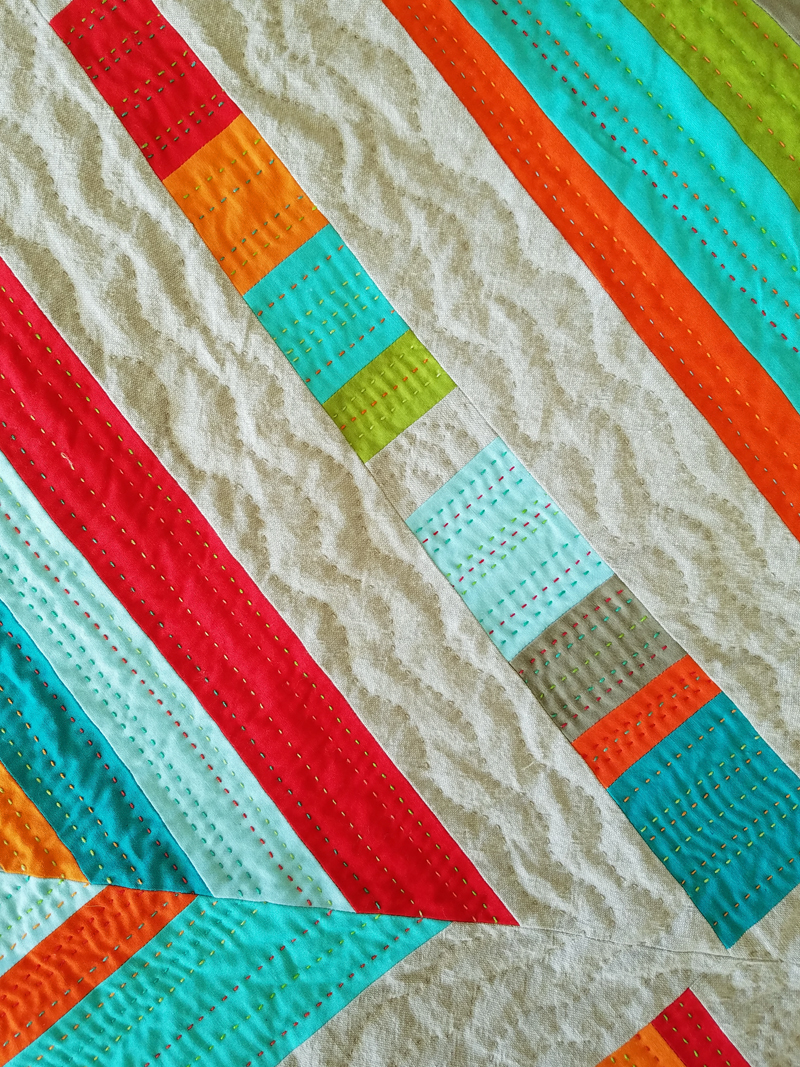 detail of hand quilting, marla varner, penny lane quilts