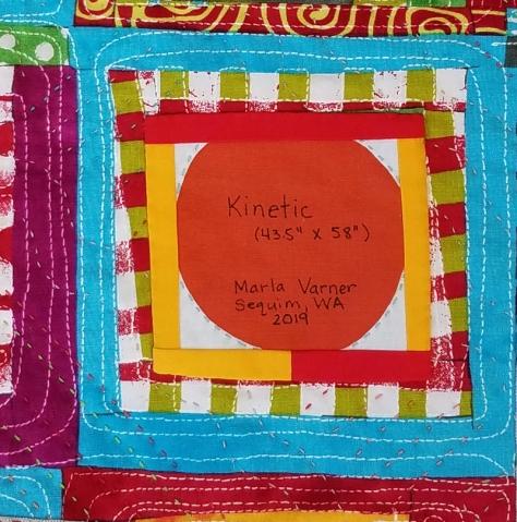 label for Kinetic, Marla Varner, pennylanequilts