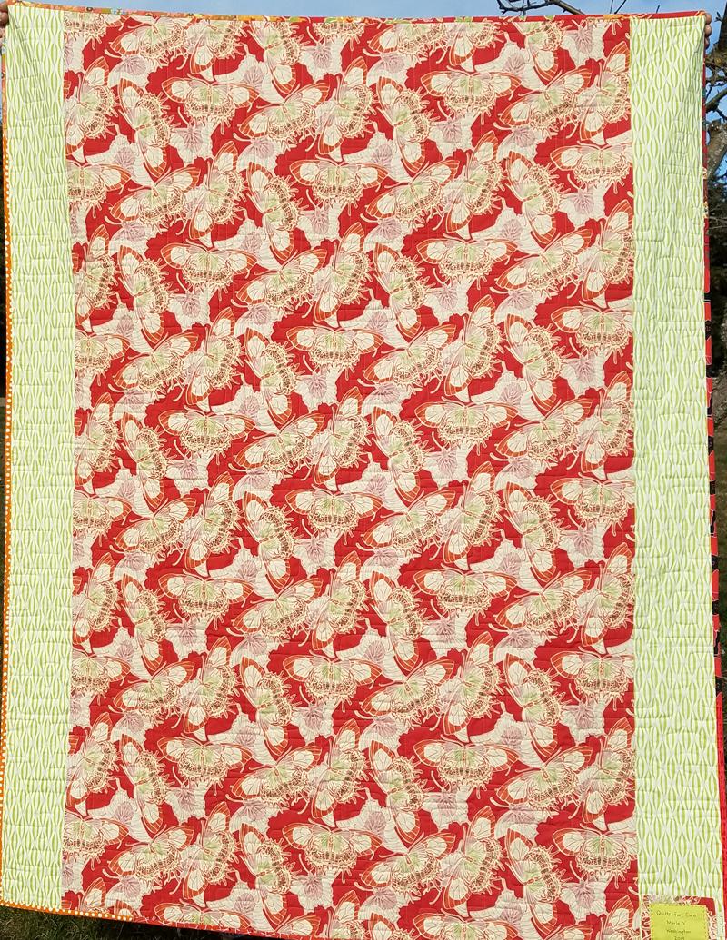 back of scrap vortex quilt, pennylanequilts