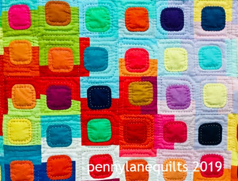 hand quilting squircles quilt, marla varner, penny lane quilts