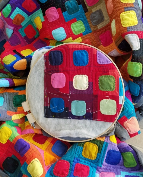 last day of quilting For the Love of Squircles by Marla Varner penny lane quilts